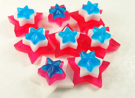 ooohh! ahhh! 4th of July star spangled soaps!