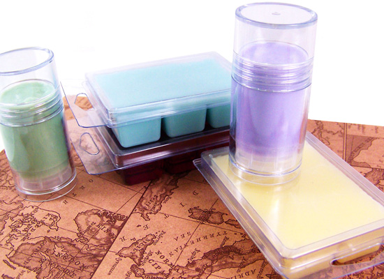 clamshell soaps and soap sticks