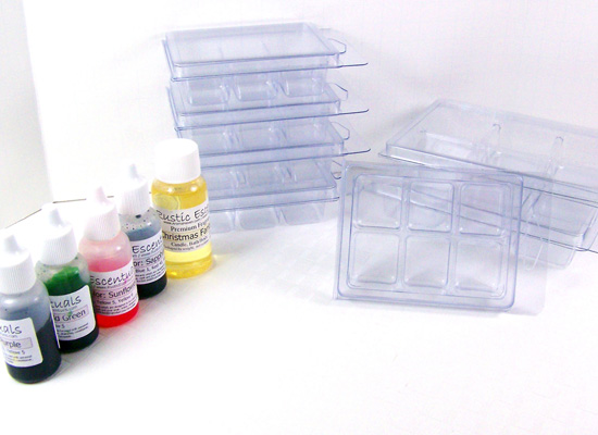 clamshell molds and colorants