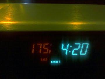 set oven temperature