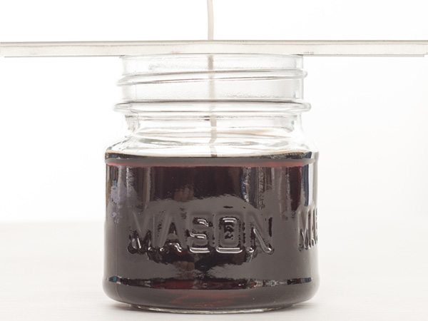 wax in jar