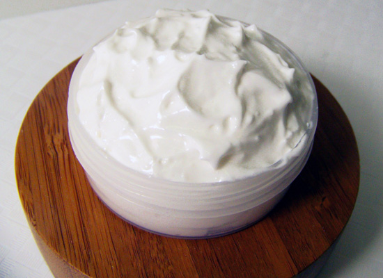 finished foaming bath butter product