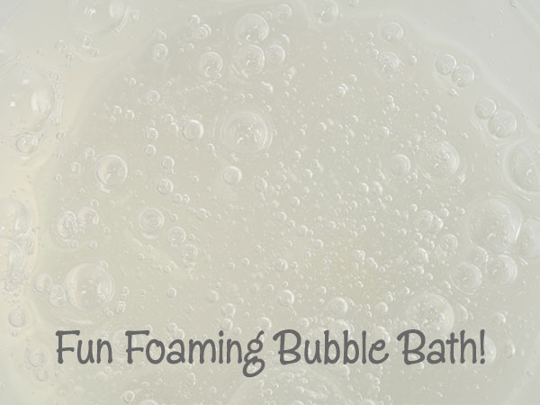 how to make fun foaming bubble bath