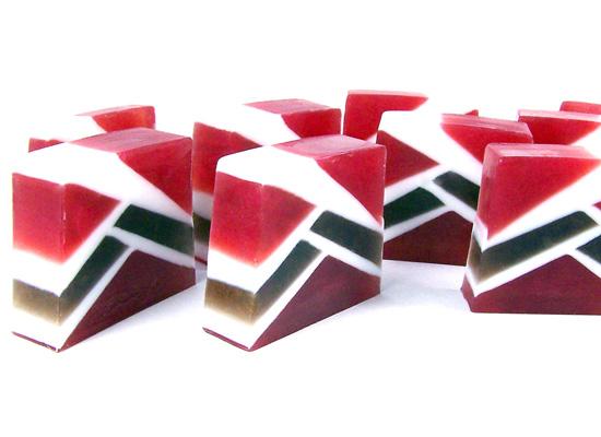 geometric soap loaf