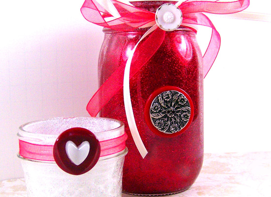 glitter jars to hold pencils or for craft storage!