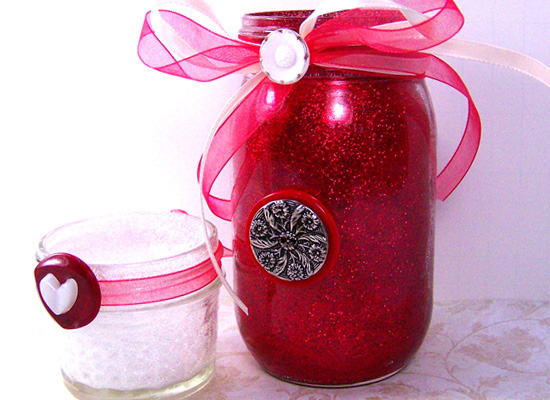 cute glitter jars