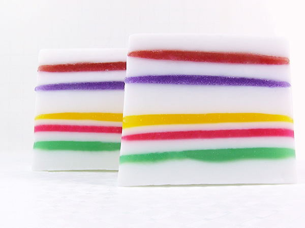 make a soap loaf layered with jelly soap