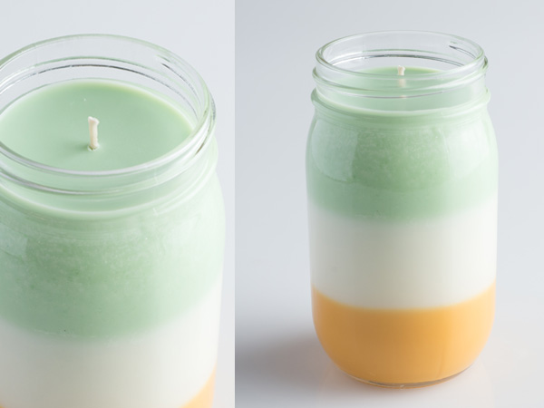 layered mason jar candle