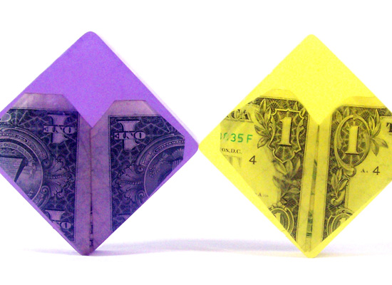 origami money soap