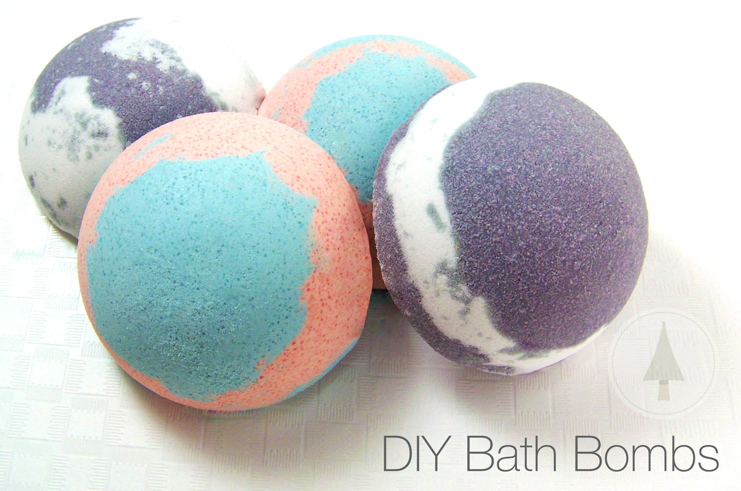easy DIY multicolor bath bombs