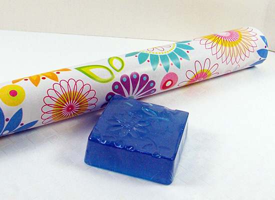 for simple rectangle or square soap - wrap with paper