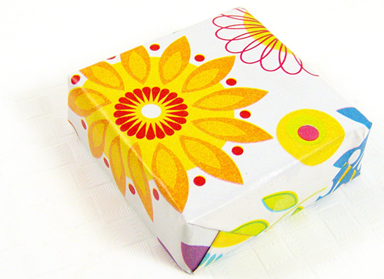 wrap as if you're wrapping a small box