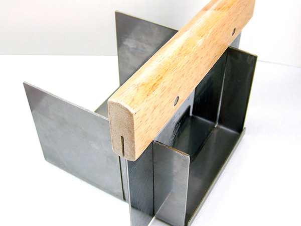 use a miter box for even cuts