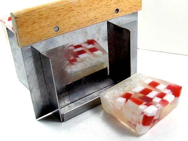 cut soap in 1-inch increments