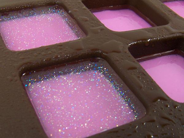 pink glitter layer