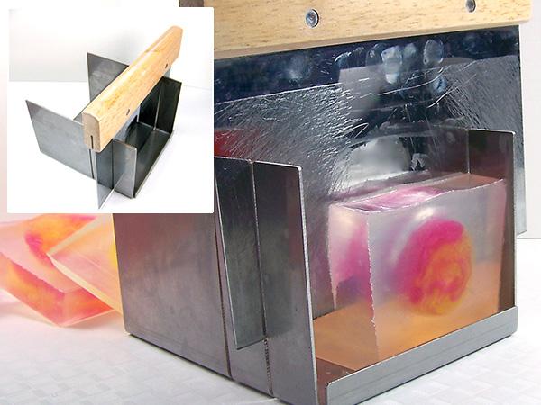 use miter box to cut soap into bars