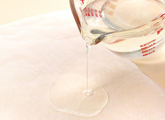 pour onto sheet