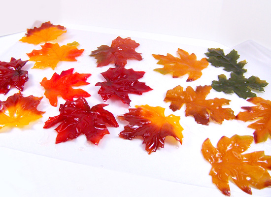 soap leaves drying on wax paper