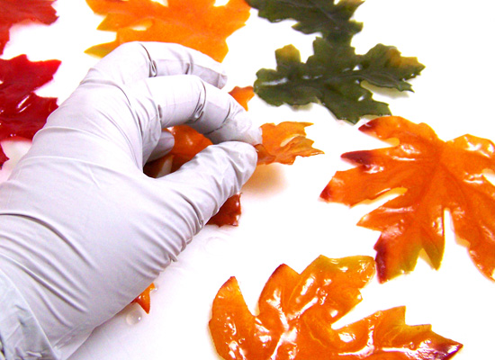 peel off wax paper once dry