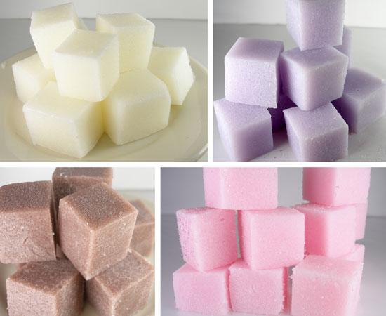 sugar scrub cubes: