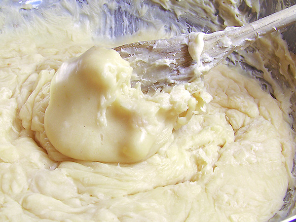 melted soap will have consistency of creamy mashed potatoes