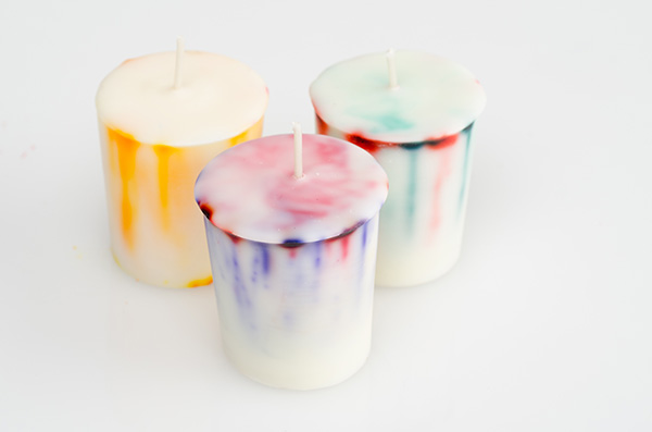 how to make tie dye votives
