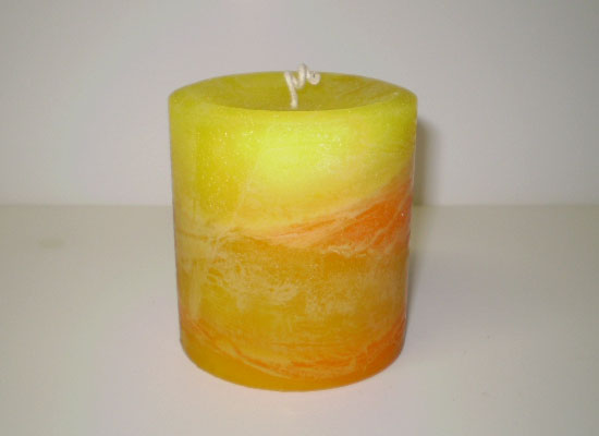 finished pillar candle