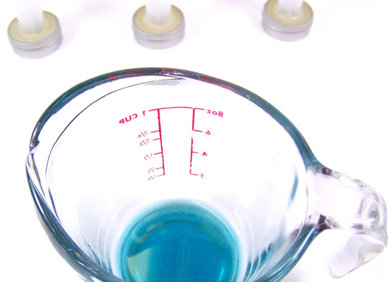 blue balm ready to pour