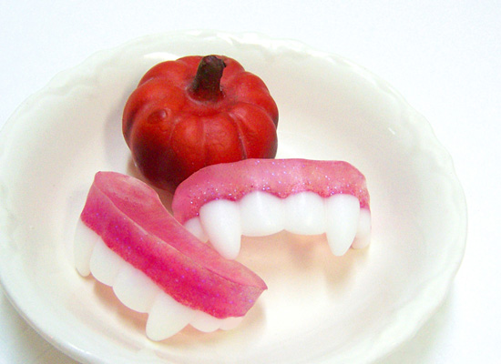 vampires among use - how to make soap vampire teeth