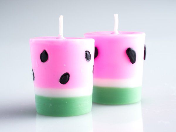 How To Make Watermelon Votives Make Votive Candles At