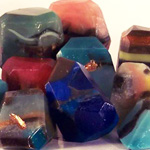 How to Make Gemstone Soap Rocks
