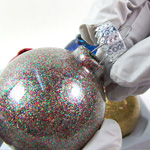 Glittery Christmas Ornament Tutorial