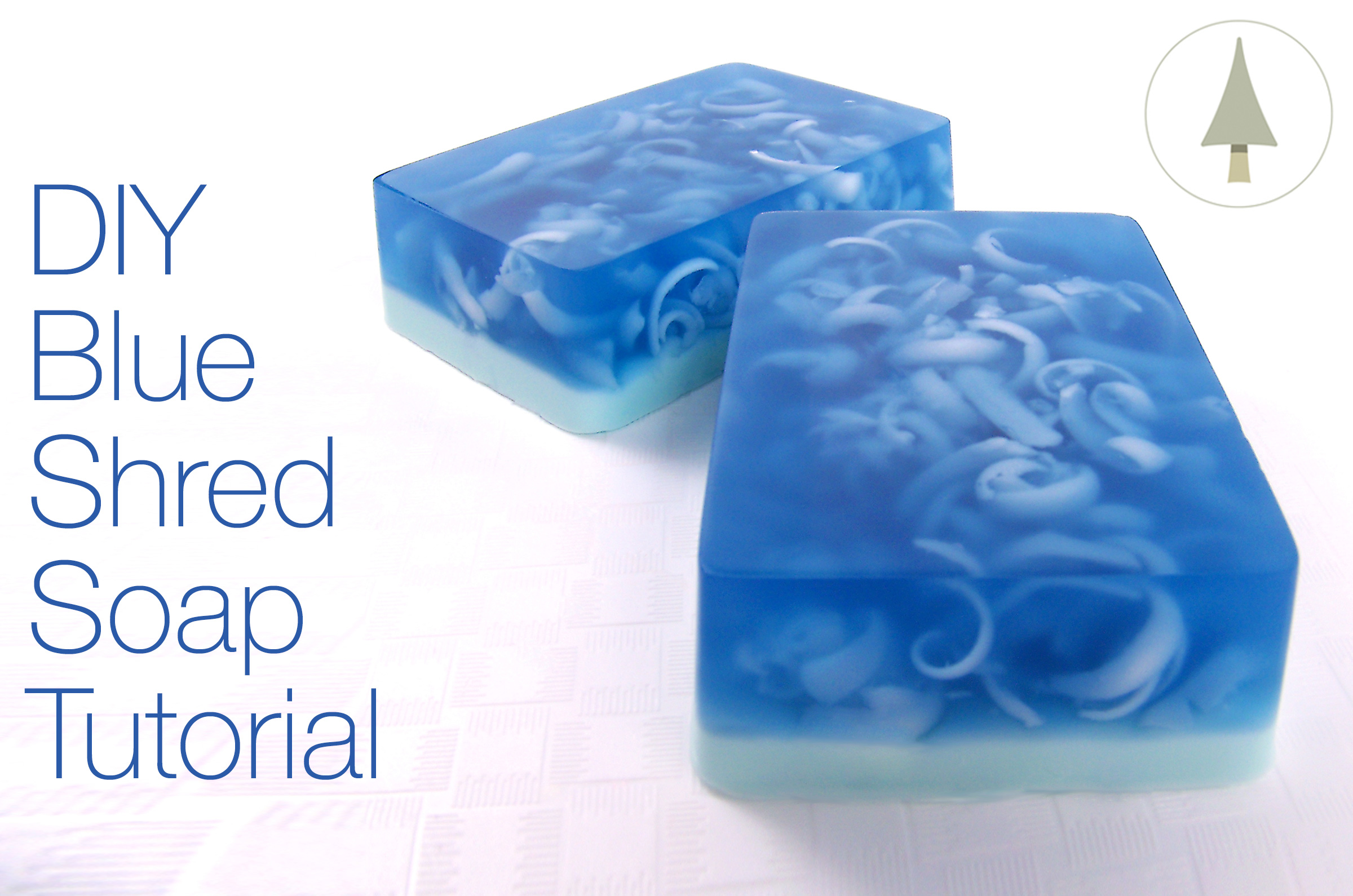 how to make blue shred soap