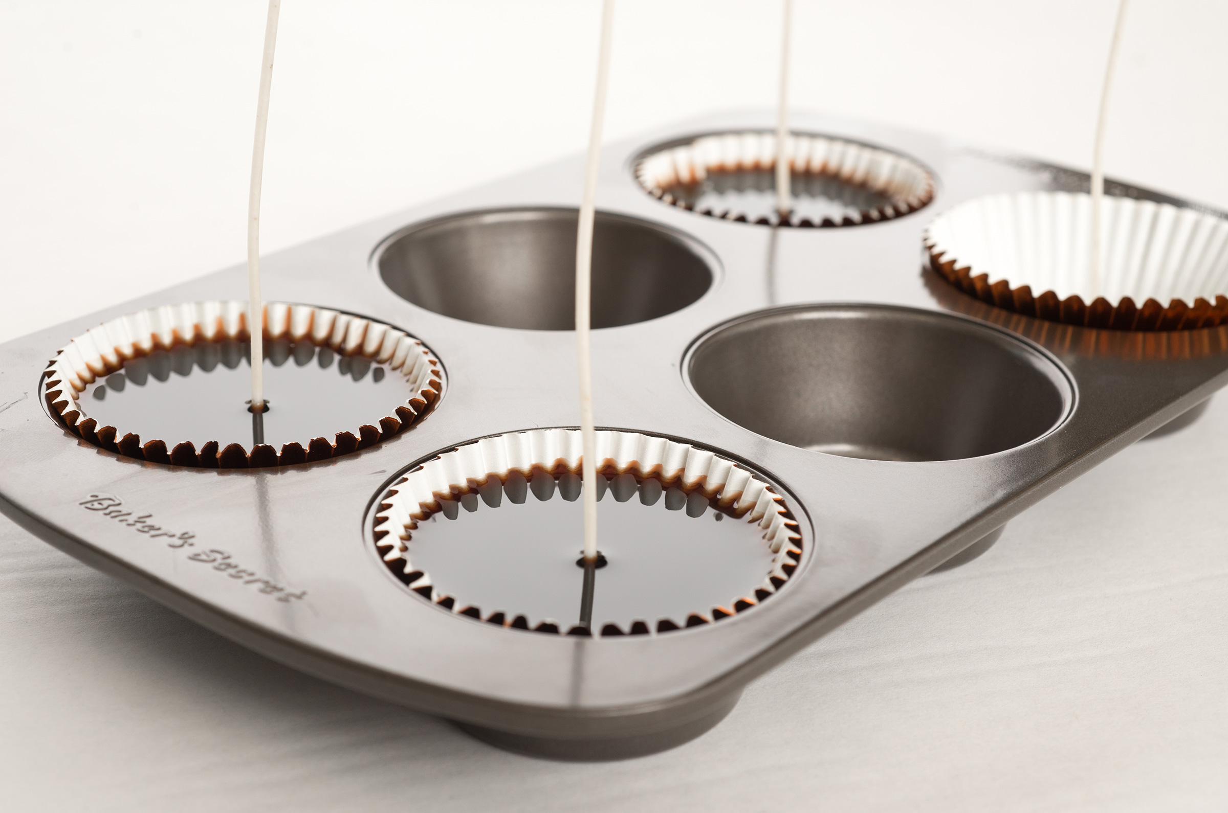 wax filled cupcake liners