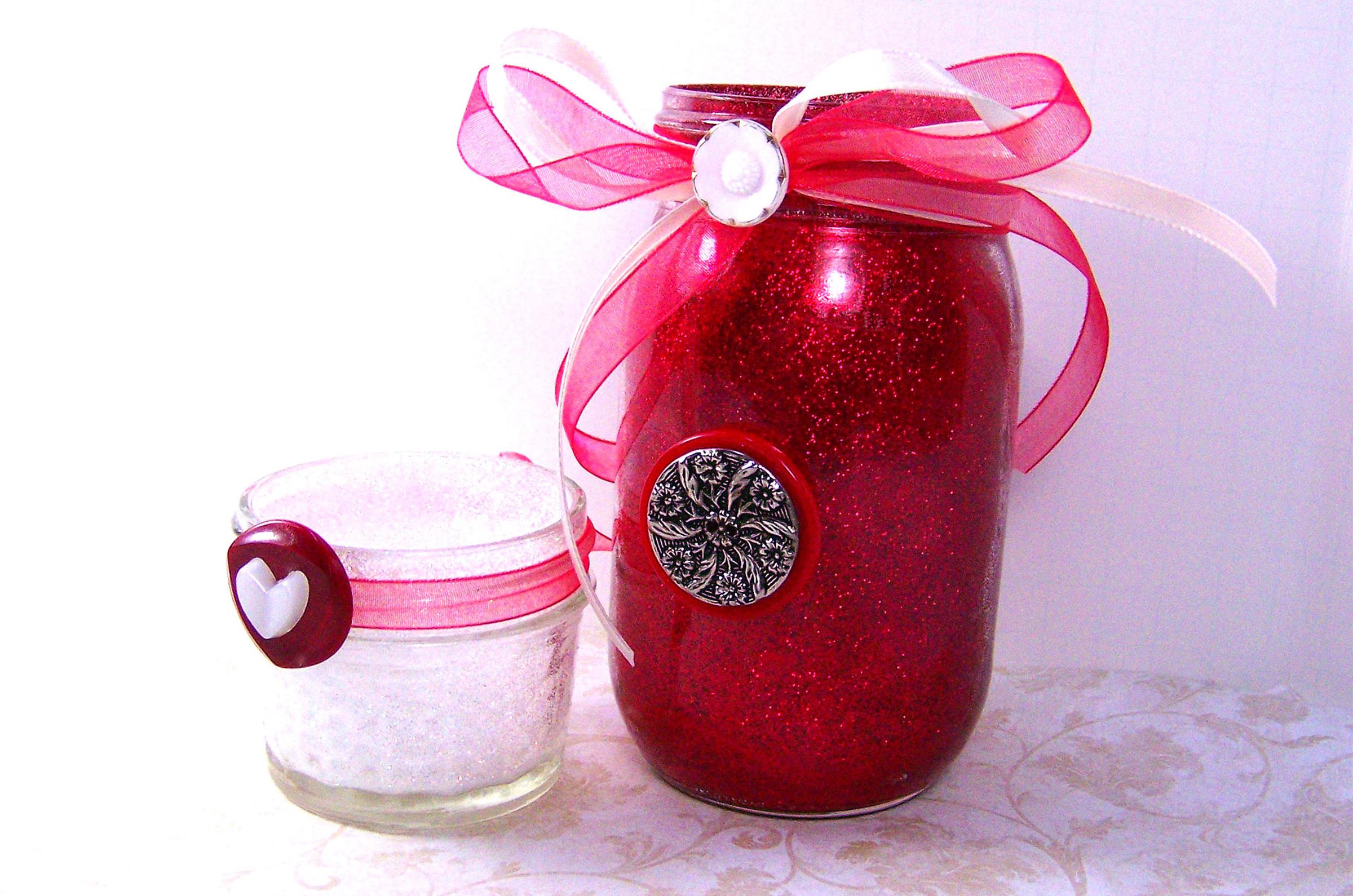 decorated jars