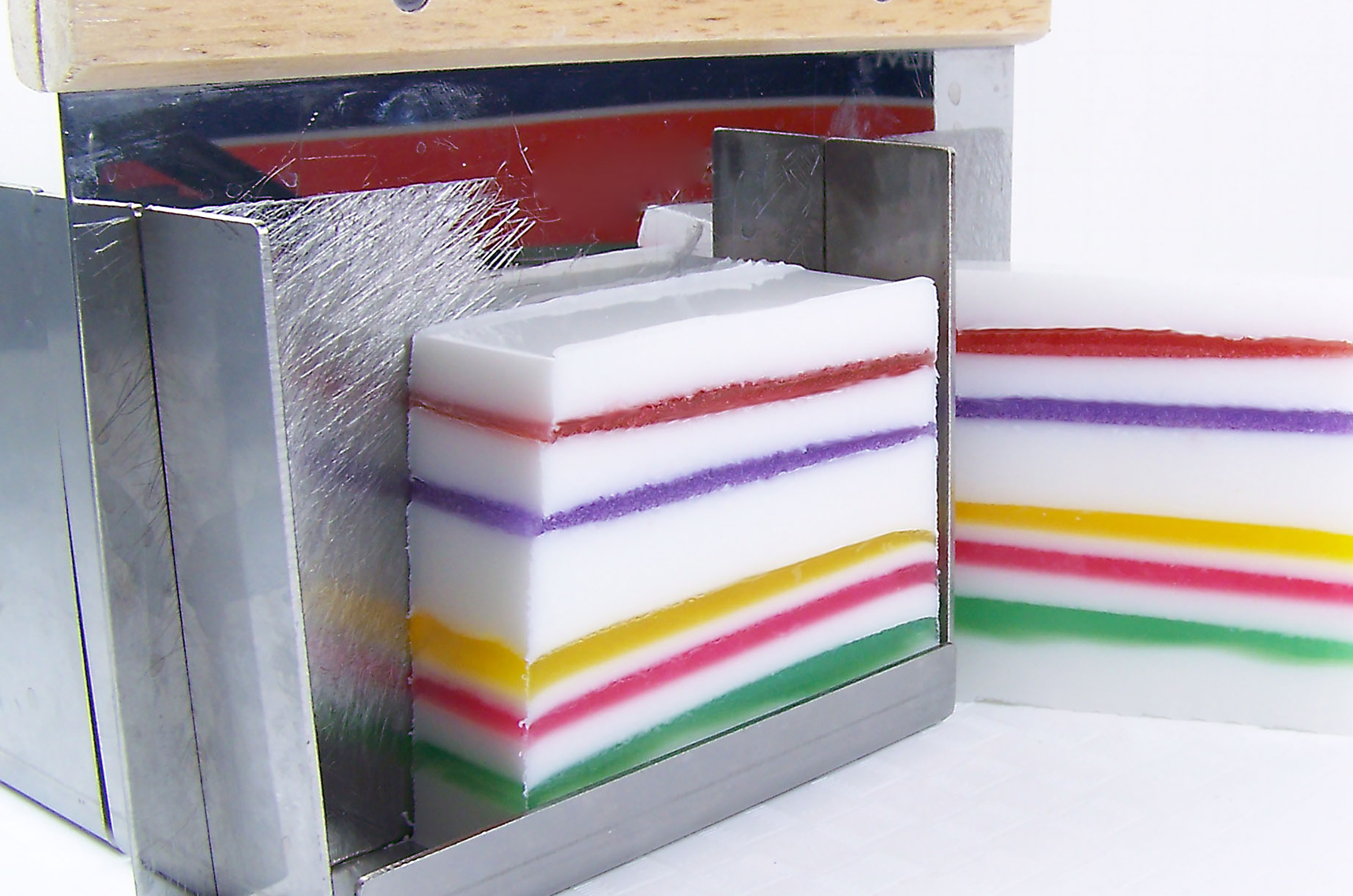 melt and pour soap with jelly soap layers