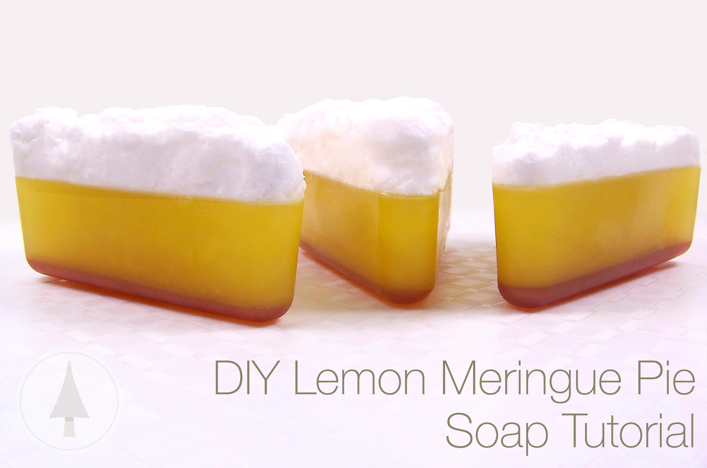 refreshing lemon meringue pie soap!