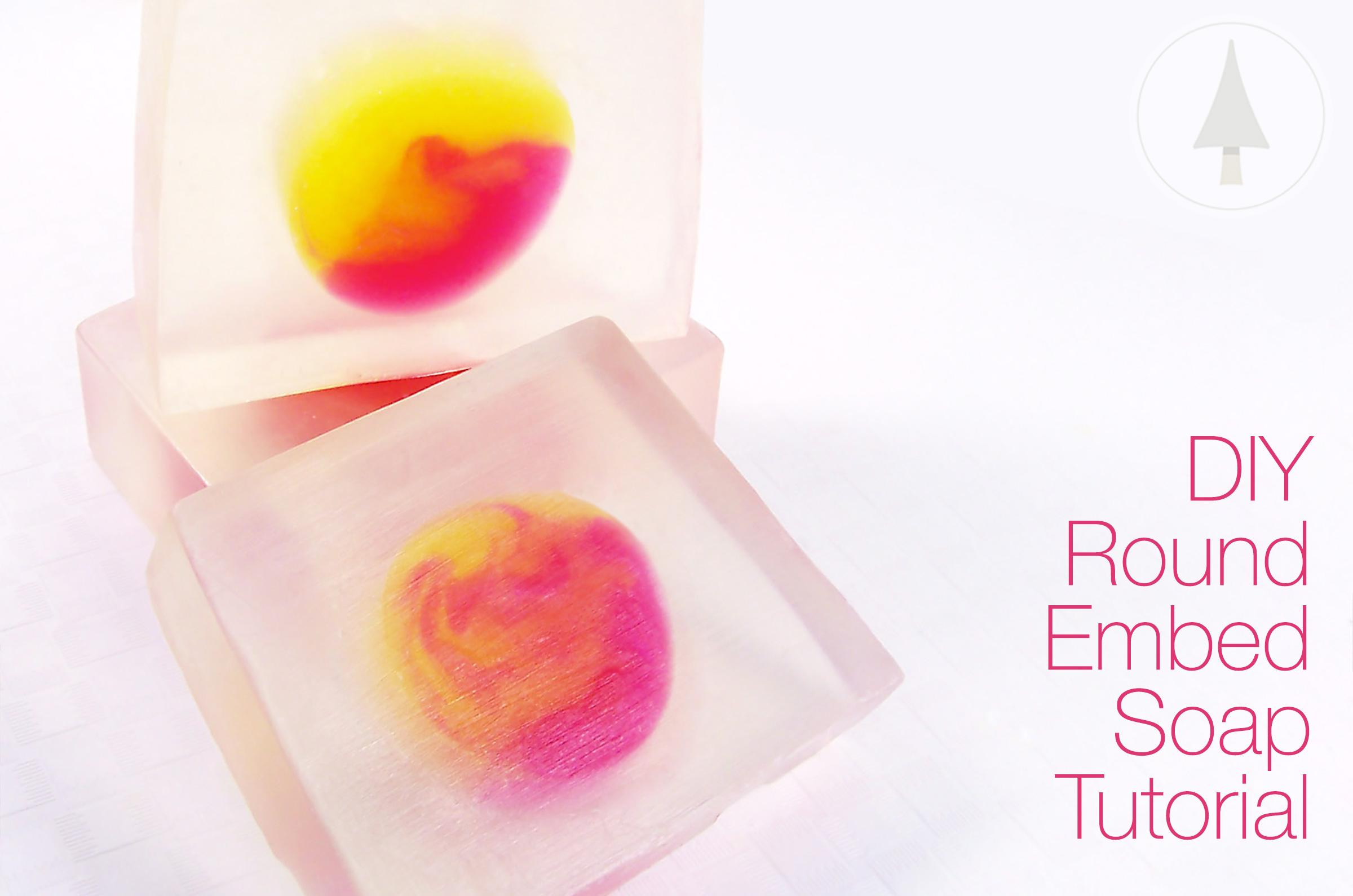 circular soap embed loaf tutorial