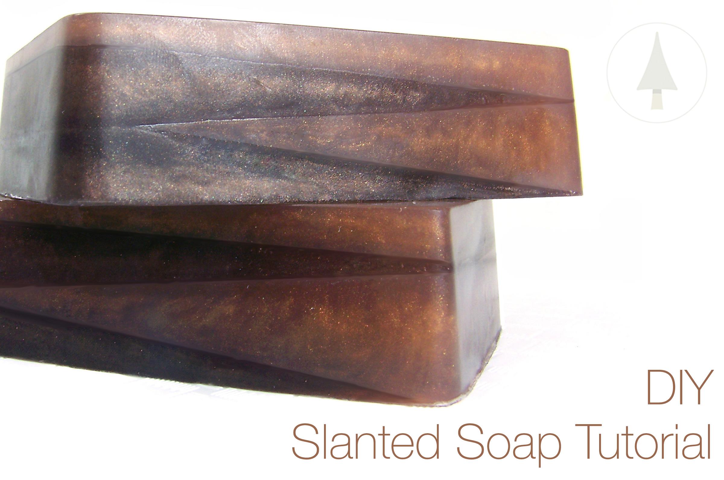 finished slanted soap