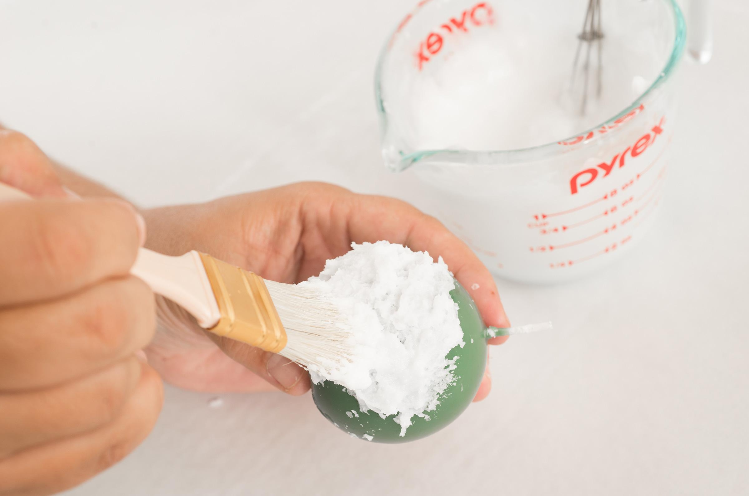 applying whipped wax