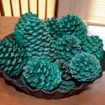 Decorative Dipped Pine Cone Potpourri